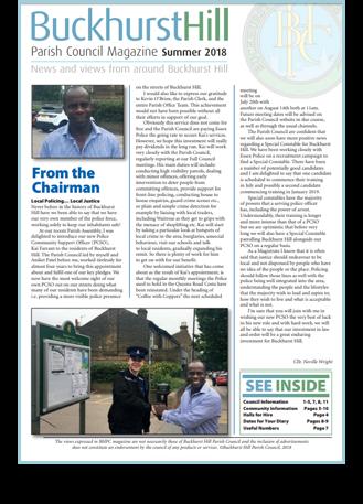 Buckhurst Hill Parish Council Magazine